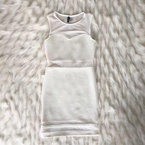 H&M | White bodycon dress